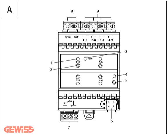 عملگر دیمر knx led عملگر دیمر KNX LED CCD GW90765 A 1
