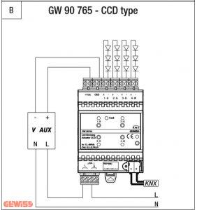 عملگر دیمر LED KNX مدل GW90765 عملگر دیمر knx led عملگر دیمر KNX LED CCD GW90765 B 282x300