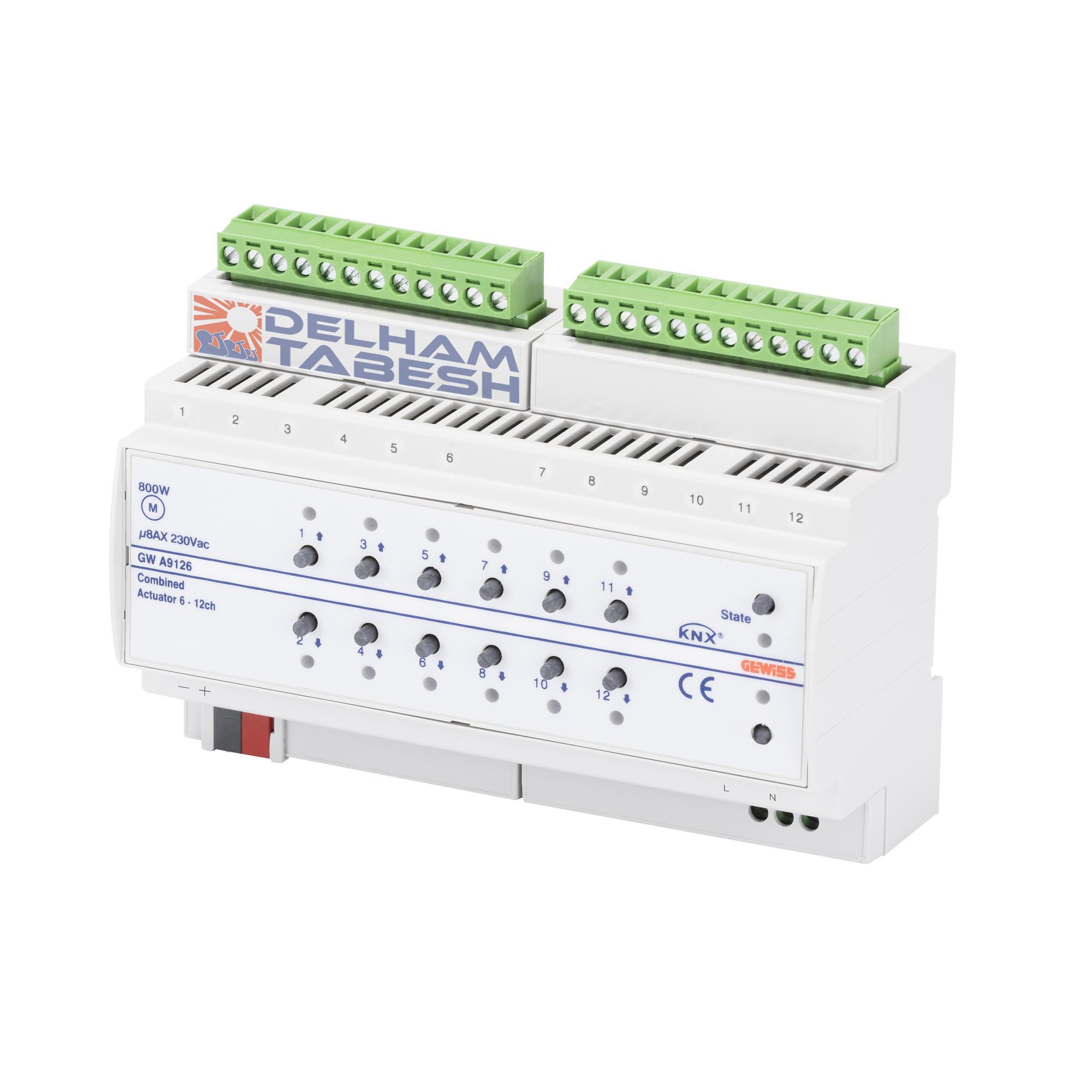 عملگر رله هوشمند ۱۲ کاناله knx عملگر رله هوشمند ۱۲ کاناله KNX GWA9126 1