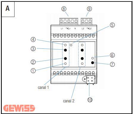 عملگر دیمر ۱ کاناله knx عملگر دیمر ۱ کاناله KNX GWA9301 f