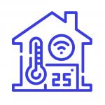 خانه هوشمند خانه هوشمند temperature blue 150x150